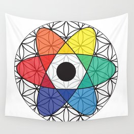 Flower of Science Wall Tapestry