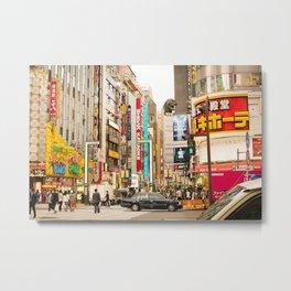 Kabukicho, Shinjuku. Metal Print
