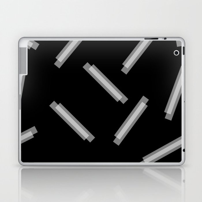 LINA ((white on black)) Laptop & iPad Skin