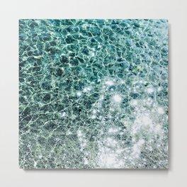 Seaside marble Metal Print