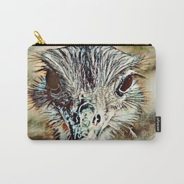 Toony Ostrich Carry-All Pouch