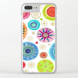 festive flowers Clear iPhone Case