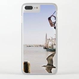 harbor landscape Clear iPhone Case