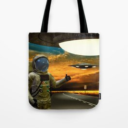 Hitchinghiking Across The Universe Tote Bag