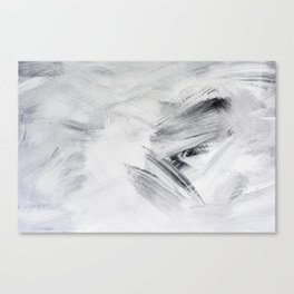 Chill Black & White Marble Abstract Paint Canvas Print
