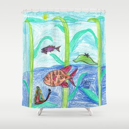 Seaweed City Shower Curtain