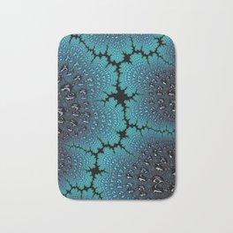 Lightening Crashes Fractal Art Bath Mat