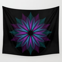 Spirograph Flower Wall Tapestry