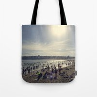 500 days of summer Tote Bags featuring Summer Days by jarjake