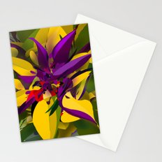 Purple Yellow Flora Stationery Cards