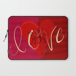 SURRENDER TO DOG LOVE ALWAYS Laptop Sleeve