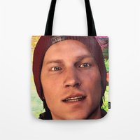 infamous Tote Bags featuring InFamous: Second Son - Delsin Rowe by Felicia