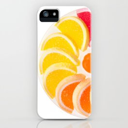 multicolored chewy gumdrops sweets iPhone Case