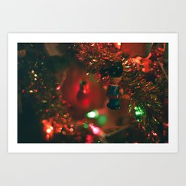 vintage christmas soldier Art Print