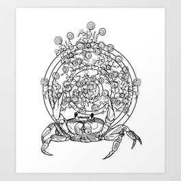 Bullseye Crab Art Print