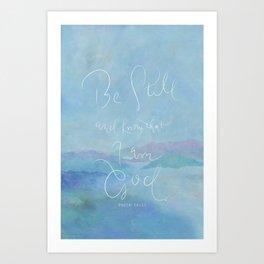 Be Still - Psalm 46:10 / Ocean Art Print