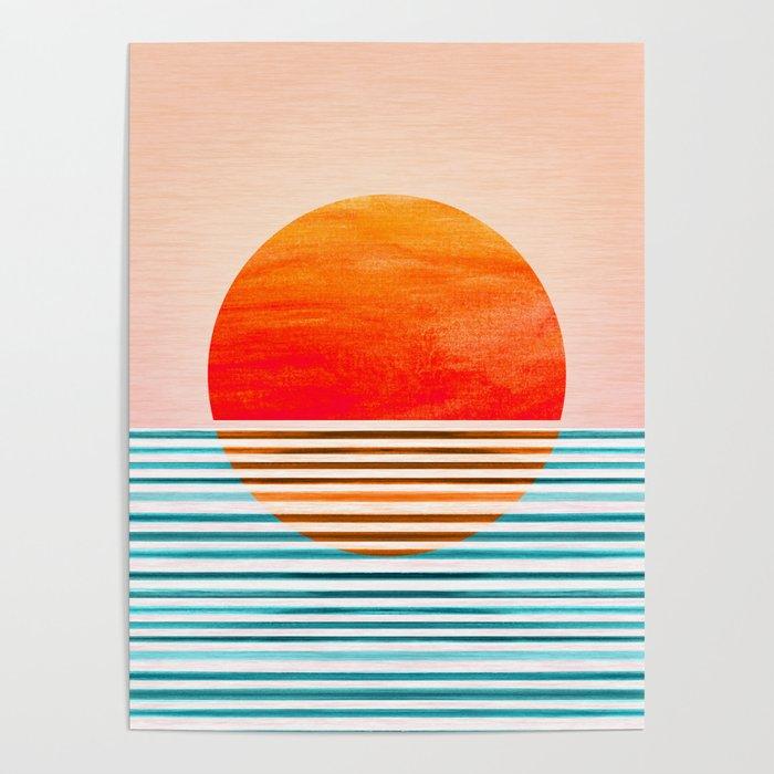 Minimalist Sunset III Poster