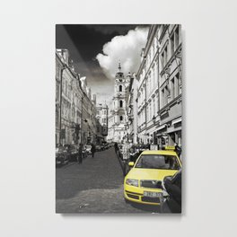 Yellow Cab Metal Print