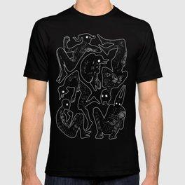 Demons pattern T-shirt