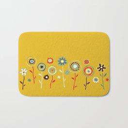 doodle flowers Bath Mat