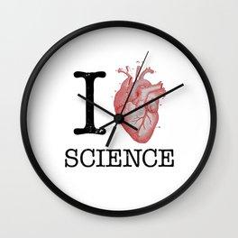 I Love Heart Science T Shirt - Biology Tee Tshirt Teacher Wall Clock
