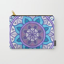 Purple and Blue Mandala Carry-All Pouch