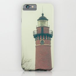Little Sable Point Lighthouse Lantern Room over the Dune Haze iPhone Case