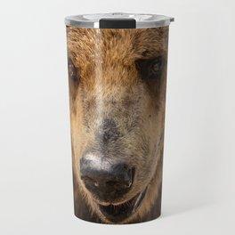 Brown Bear Portrait Travel Mug