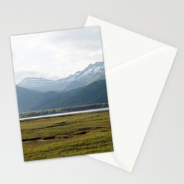 Misty Mountain Sunset Photography Print Stationery Cards