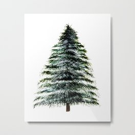 Evergreen Tree Tapestry Metal Print