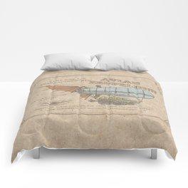 Avian Zeppelin Steampunk Poster Comforters