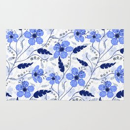 Floral pattern on a white background. Rug
