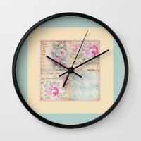shabby chic Wall Clocks featuring Shabby Chic No.1 by Artistic Home Decor