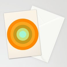 Slammin' - retro vibes 1970s style throwback bullseye circle infinity 70's Stationery Cards