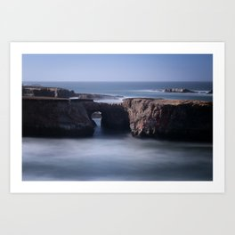 Keyhole Rock Arches Point Arena California Art Print