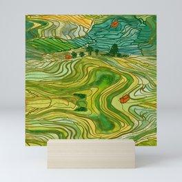 Terraced Rice Paddy Fields Mini Art Print