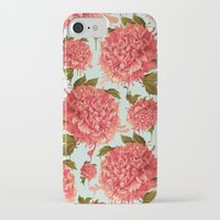 iPhone Cases featuring A Splash of Peony, A Dash of Color by Kristy Patterson Design