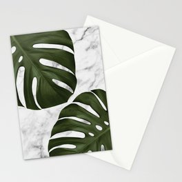 Marble Monstera Stationery Cards
