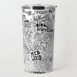 Brooklyn Map Travel Mug