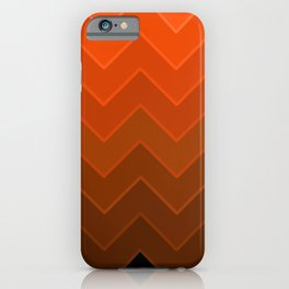 Gradient Orange Zig-Zags iPhone Case