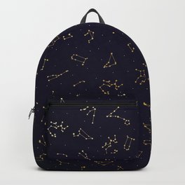 Zodiac Constellations in the Night Sky Backpack