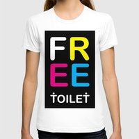 toilet T-shirts featuring TOILET CLUB #free by Toilet Club