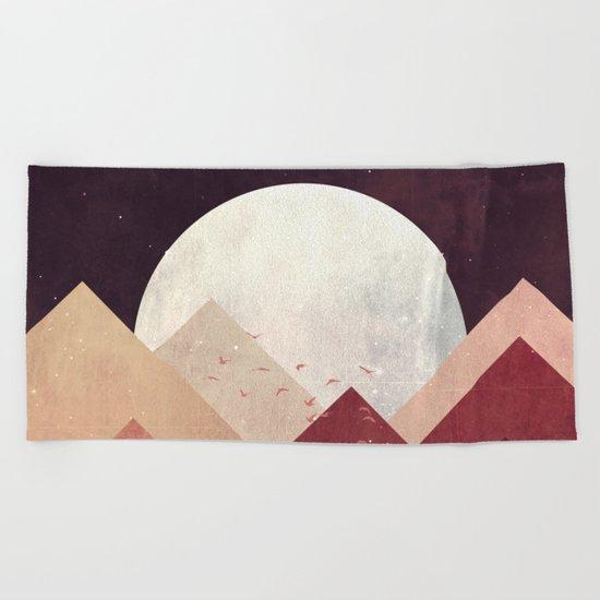 Midnight Mountains Beach Towel
