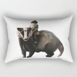 Gnome on Badger Rectangular Pillow