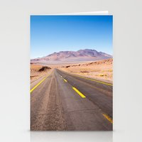 chile Stationery Cards featuring Route 27, Atacama - Chile by klausbalzano