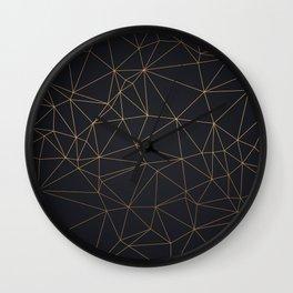 Golden Luxury Pattern Wall Clock