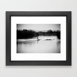 Heron at Dawn Framed Art Print