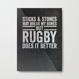 Rugby Player Gift Metal Print