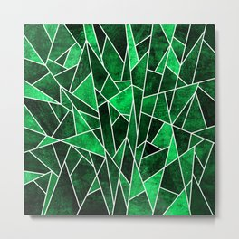Shattered Emerald Metal Print