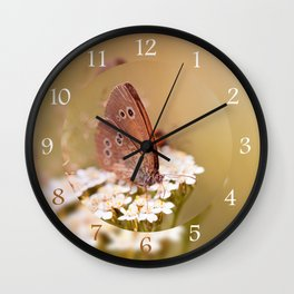 Ringlet brown butterfly Wall Clock